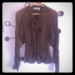 YvesSaintLaurent silk shirt